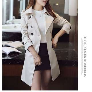 BN Ladies ivory trench coat