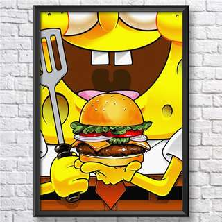 Spongebob A4 Wall Frame