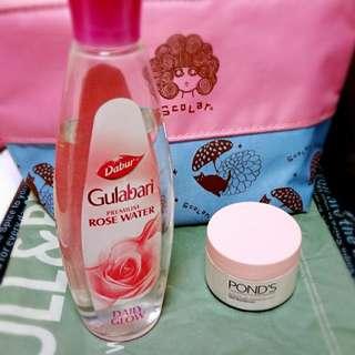 🚚 兩瓶合賣99元/玫瑰水,乳霜