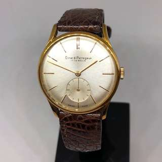 【古董芝柏】Vintage 1960's Girard Perregaux Rose Pink Gold Manual Winding Watch
