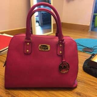 MK pink handbag