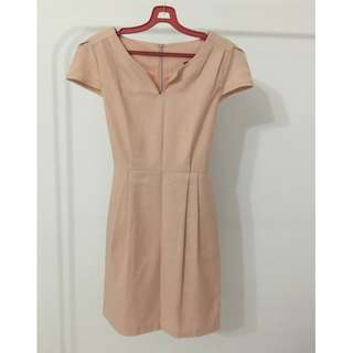 Pastel Pink Work Dress With a Little Shimmer