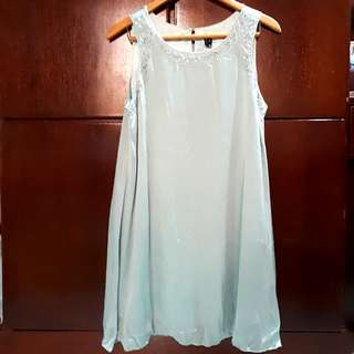 Authentic Zio Shimmery Light Blue Sleeveless Dress