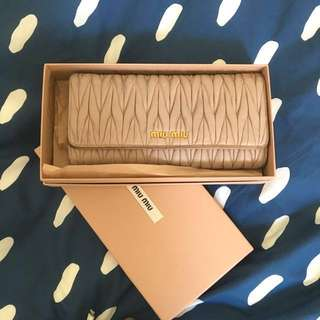 Authentic Miu miu wallet free postage