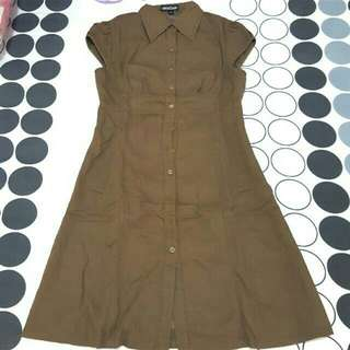 brown A dress