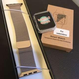 iwatch 42mm 金屬磁力錶帶 金色 gold