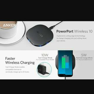 Anker Fast Wireless Charger PowerPort Qi 10 Wireless Charging Pad