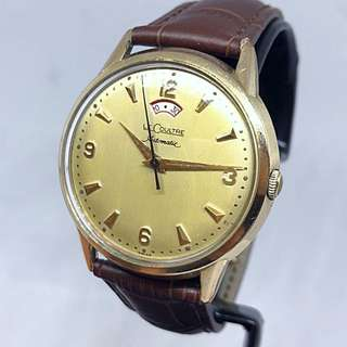 🇫🇷Vintage 1958 Jaeger LeCoultre 古董積家 10k Gold Filled Powermatic Automatic Watch With bumper Movement