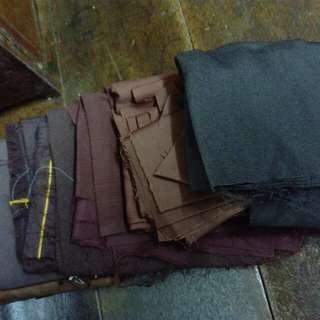 Various pcs and shades of brown fabric