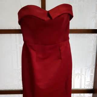 Red dress night gown