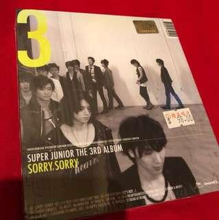 Super Junior 3rd Album- Sorry, Sorry