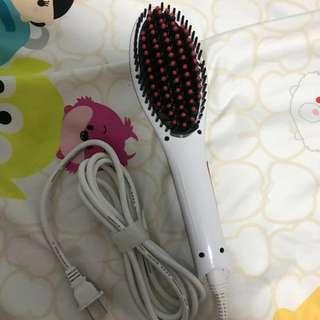 Hair straightener comb (white)