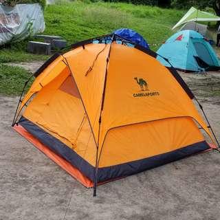 戶外3-4人 自動全雙層防水野外露營