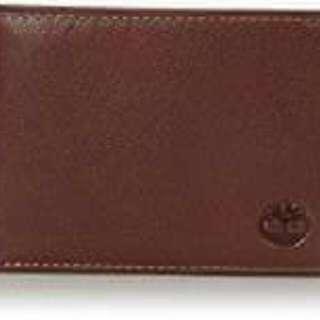 👍全港獨家有售👍  Timberland Men's Genuine Leather RFID Blocking Passcase Security Wallet, Brown, One Size