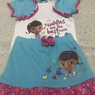 Doc Mcstuffins top and skirt size 5