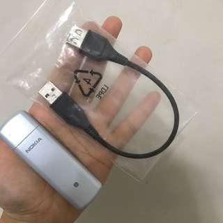 原價$1000多💗幾乎全新 NOKIA無線網卡CS-11 3G 高速行動網路(插SIM卡)
