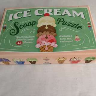 Ice Cream Scoop Puzzle Countless Sweet Creations with 32 Flavors. BrandNEW  - For