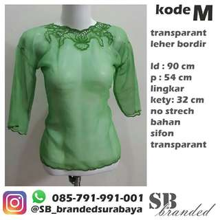 Atasan sifon transparant preloved second bekas impor