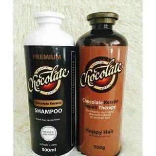 Set of Chocolate Keratin Conditioner & Shampoo