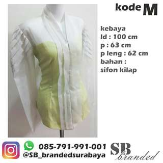 Atasan kebaya abu abu ex salon preloved second bekas impor