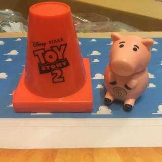 玩具總動員 火腿豬 三角錐 麥當勞 絕版 漢堡王 玩具 扭蛋 公仔