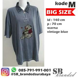 Atasan pooh big size preloved second bekas impor