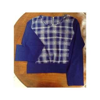 blue croptee