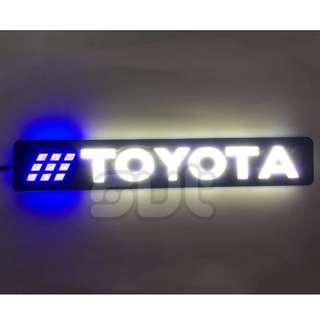 2pcs Toyota Word Emblem Flexible Silicone Daytime Running Light