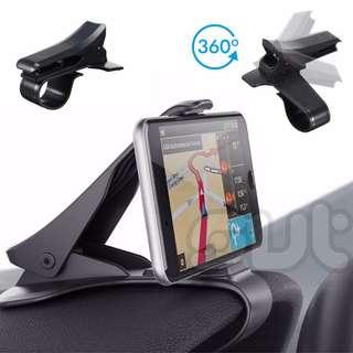 HUD Design Universal Car Dashboard Phone Holder Clip with Rotation