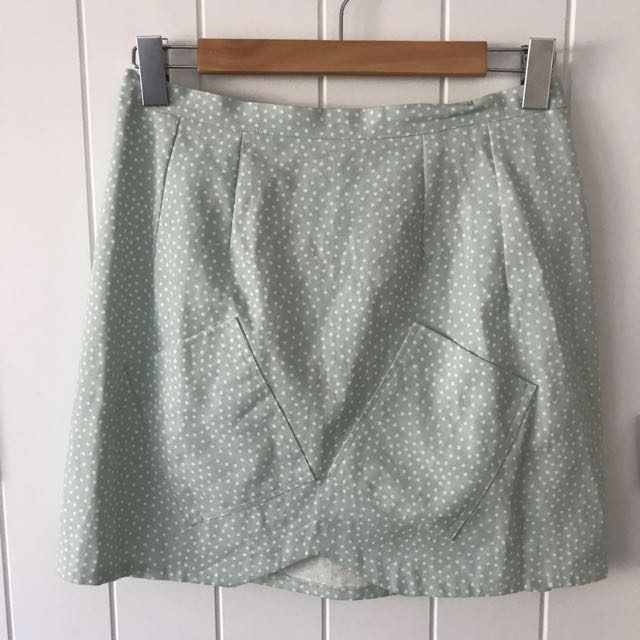 1989 Polka Dot Green Skirt