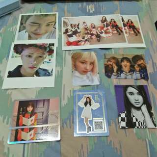 BTS, Twice, BTS, SNSD, Oh My Girl, Pristin, After School official photocards