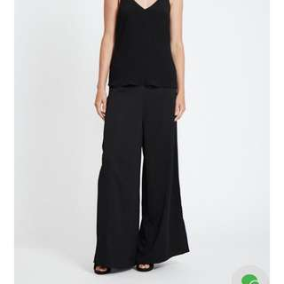 Black Palazzo Pants With Splits