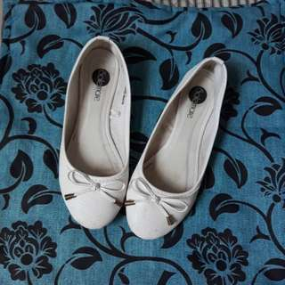 White Doll Shoes (Size 7)