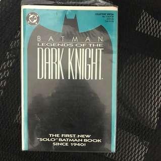 "Batman dark knight, the first new ""solo"" Batman book since 1940"
