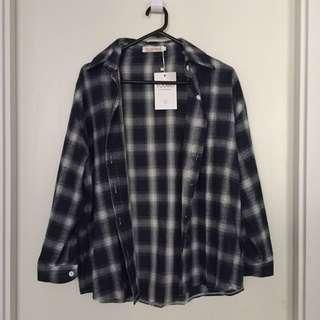 Checkered Oversized Shirt