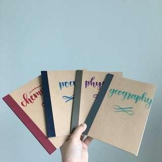 customisable notebooks!