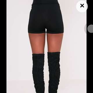 Pretty little things Basic black high waisted short