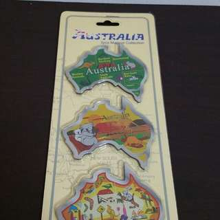 Australia 3 piece magnet (New and sealed)