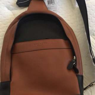 Brand new Coach 100% leather backpack