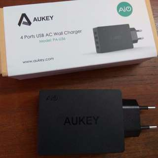 Aukey Wall Charger USB (4 Ports)
