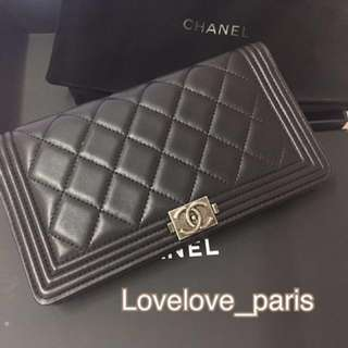 Boy Chanel Wallet 100%real and new 銀包