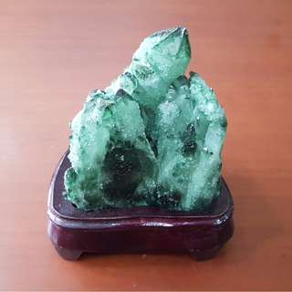 Green Crystal Cluster
