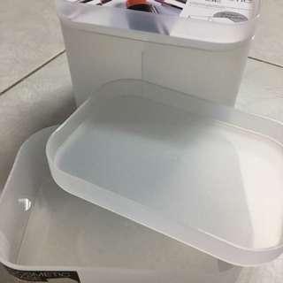 🌟霧白雙層收納盒