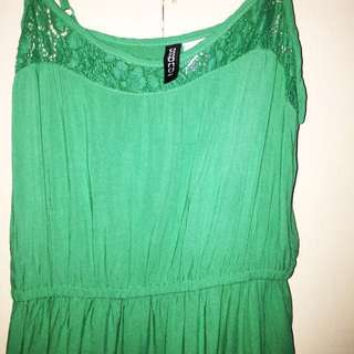 Divided green dress