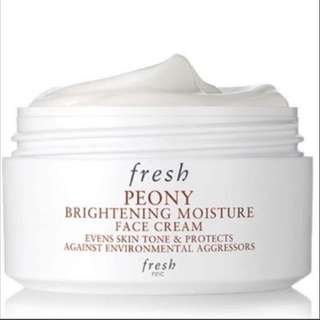 (50% off!!) BNIB Fresh PEONY BRIGHTENING MOISTURE FACE CREAM