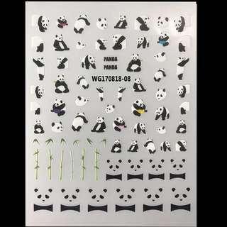 Panda Nail Sticker