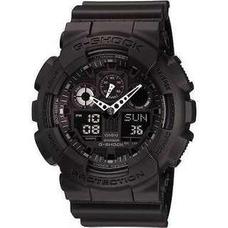 Casio GA-100-1A1ER Mens G-Shock Digital Black Watch