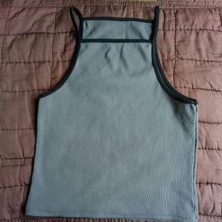 Halter Top Gray