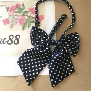 Butterfly Navy Polkadots Bow Ties 02