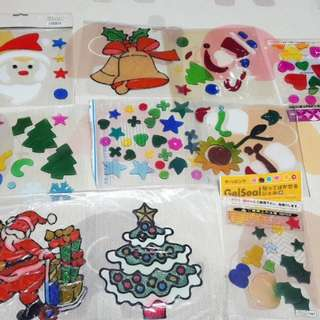 Christmas Glass /Mirror Jelly Stickers